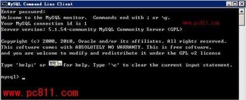 mysql不输入密码登录mysql