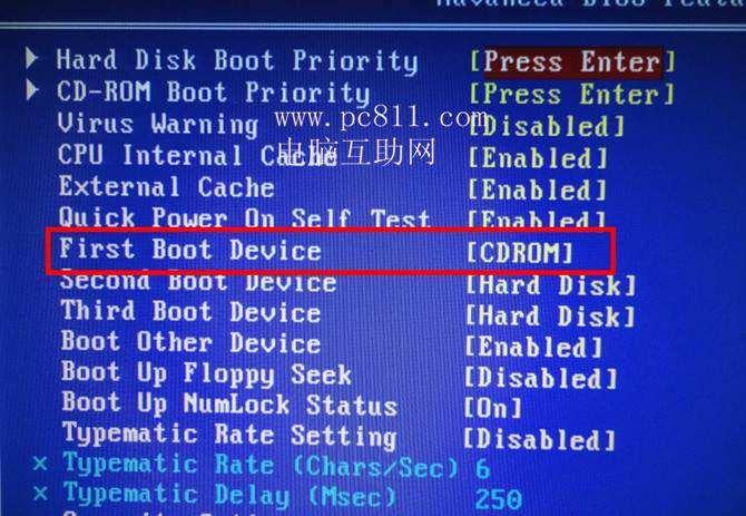 Award BIOS设置开机第一启动项