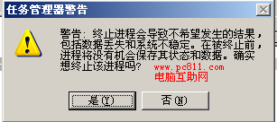 任务管理器警告提示